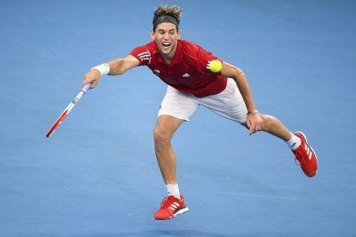 Dominic Thiem verliert nach der Niederlage im ATP-Cup gegen Hubert Hurkacz in der Rangliste einen Platz.apa