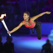 Das Olympische Feuer lodert