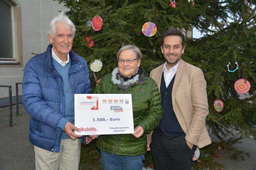 Erich Obernosterer mit Annegret Senn und Hubert Lötsch.