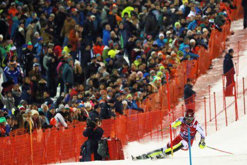 Erleichterung bei Johannes Strolz. Nach drei Ausfällen in den bisherigen Weltcupslaloms war der Warther in Madonna auf Platz zehn der beste ÖSV-Läufer.gepa