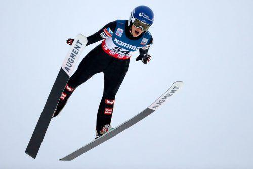 Eva Pinkelnig geht mit viel Selbstvertrauen in die Springen in Rasnov (ROU).apa