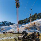 Schneemangel macht Skigebieten zu schaffen. A6