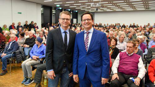 Schon der erste Vortrag von Primar René El Attal (r.) und OA Andreas Berger, damals noch im Panoramasaal des LKH Feldkirch, war ausgebucht.vn/lerch