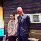 Prinz Charles trifft Greta