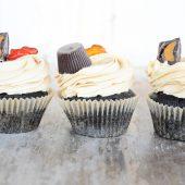 Rezept. Erdnussbutter-Schokoladen-Cupcakes