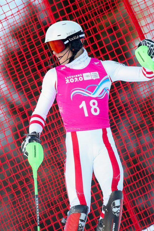 Für Valentin Lotter war der Kombi-Slalom nach wenigen Toren vorbei.gepa