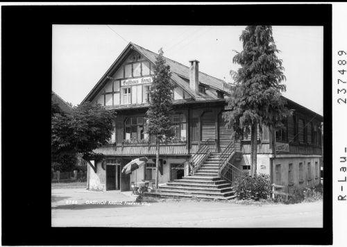 Gasthof Kreuz in Frastanz.