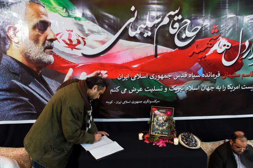 Generalmajor Kassem Soleimani wurde in Quetta beigesetzt. AFP