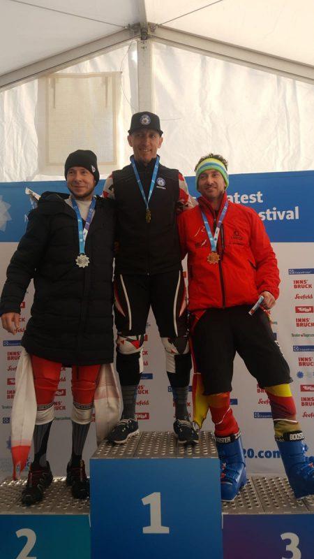 Gleich drei Medaillen gewann Stefan Mangard, im Bild mit Gold im Sprint-RTL.Privat