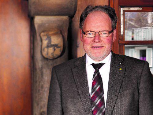 Götzis verleiht den Ehrenring an Langzeitbürgermeister Werner Huber. MG Götzis