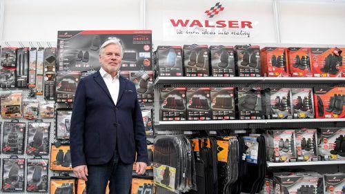Hans Karl Walser hat das Unternehmen zum größten Anbieter von Autositzbezügen entwickelt und hält die Stellung mit ständiger Weiterentwicklung. VN/Lerch