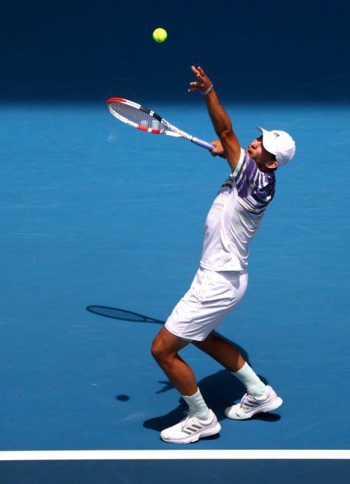 In 110 Minuten fegte Dominic Thiem mit einer Galavorstellung im Achtelfinale der Australian Open den Franzosen Gael Monfils 6:2, 6:4, 6:4 vom Platz.AFP