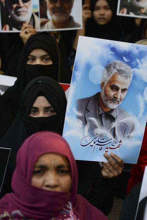 In Indien protestierten Muslime am Sonntag gegen die USA.AFP