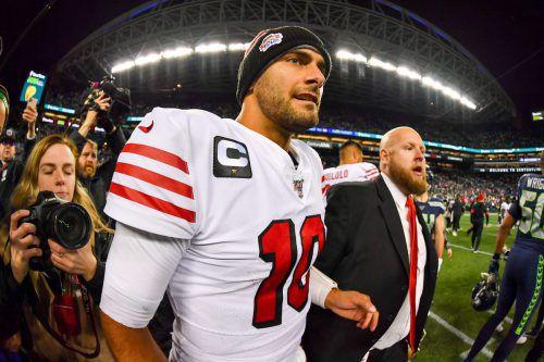 Jimmy Garoppolo hat mit den 49ers aus San Francisco Heimrecht gegen Minnesota.afp