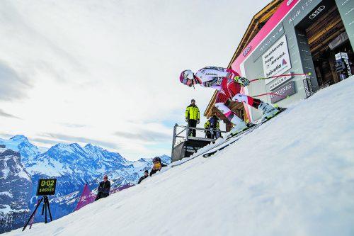 Johannes Strolz ist Vorarlbergs heißes Eisen in der Kombination am Lauberhorn.gepa