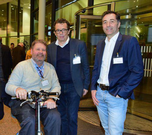 Josef Rupp, WKV-Präsident Hans Peter Metzler und Thomas Schwarz (11er).