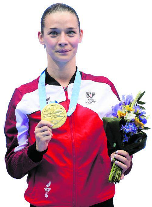 Karate-Ass Bettina Plank zählt zu Vorarlbergs Medaillenhoffnungen bei Olympia.gepa