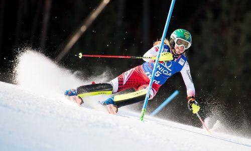 Katharina Liensberger zeigte beim Slalom in Lienz mit Rang vier aufsteigende Form. In Zagreb schied die Göfnerin vor einem Jahr aus, 2018 belegte sie Platz acht. aPa
