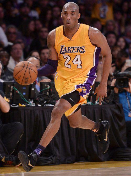 Kobe Bryant spielte von 1996 bis 2016 für die Los Angeles Lakers. Gepa