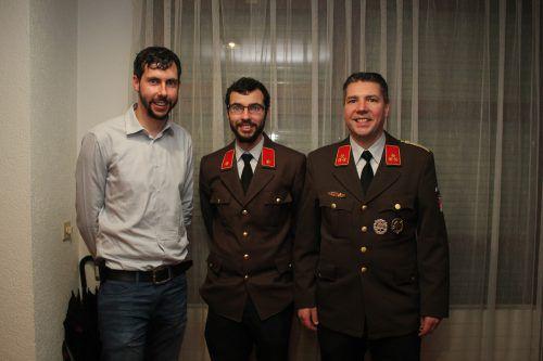 Lucas Thoma, David Thoma und Martin Plangg. VN/JLO
