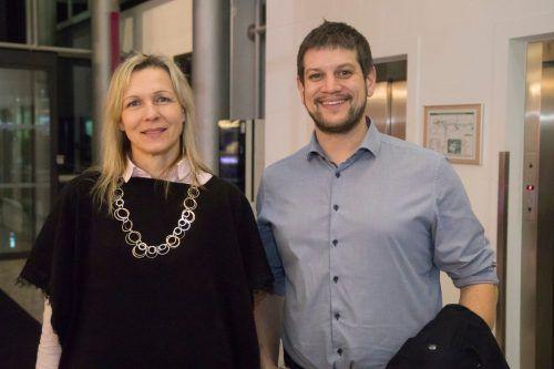 Maria Koller und Simon Hagen (Sozialzentrum Altach).