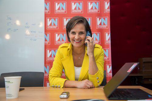 Martina Ess bringt sich nach ihrem Ausflug in die Politik als Kommunikationstrainerin in Stellung. VN/Steurer