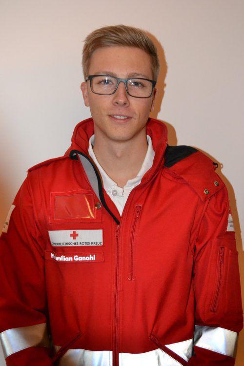 Maximilian Ganahl engagiert sich seit vier Jahren als First Responder. BI