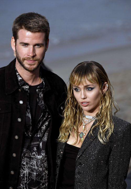 Miley Syrus und Liam Hemsworth sind ab dem 22. Februar wieder Singles. AFP