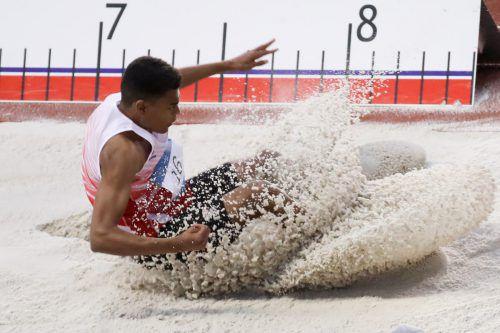 Mit 7,31 Meter ist Oluwatosin Ayodeji nun Dritter in der Weitsprung-Weltbestenliste bei den Unter-18-jährigen.GEPA