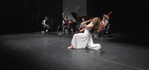Natalie Fend mit dem Ensemble Pool of Invention unter der Leitung von Florian Willeitner bei der Mozartwoche in Salzburg. Mozartwoche/Lienbacher