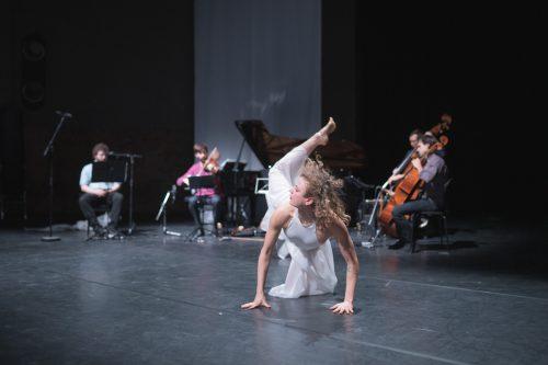 Natalie Fend mit ihrem Musikensemble bei der Mozartwoche. Lienbacher