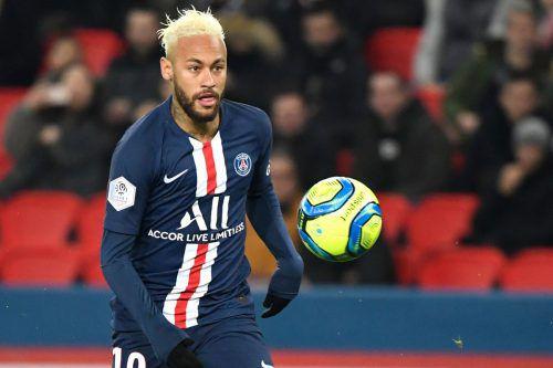 Neymar war Doppeltorschütze beim 3:3 von Paris SG gegen Monaco.afp