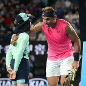 Nadal entschuldigt sich mit Bussi