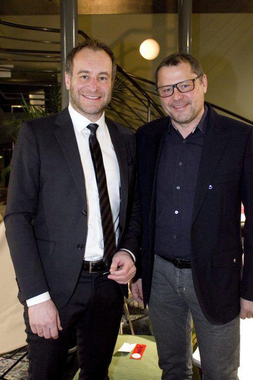 Rechtsanwalt Alexander Juen (l.) und Harald Keckeis (Destillerie Keckeis).