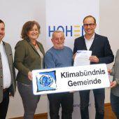 Hohenems ist ab sofort Mitglied bei Klimabündnis Vorarlberg