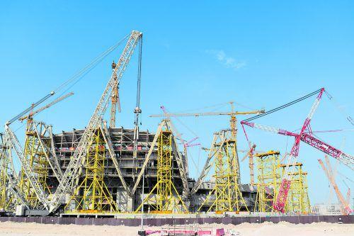 Sechs Stadien werden extra für die Austragung der Weltmeisterschaft gebaut.