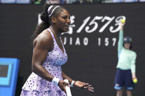Serena Williams haderte mit ihrer Leistung nach der Niederlage gegen Wang Quiang.afp