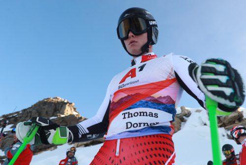 Thomas Dorner gibt beim Riesentorlauf in Garmisch seine Premiere im Weltcup.gepa