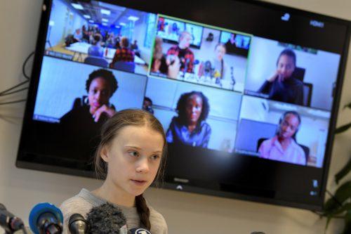 Thunberg hat Mitstreiterinnen aus Afrika eine Plattform verschafft. Reuters