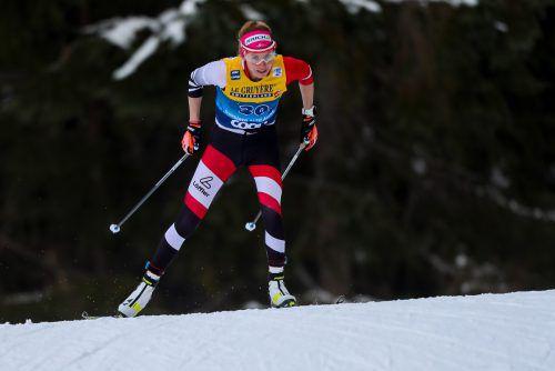 Trotz Problemen verpasste Teresa Stadlober die Top Ten nur knapp.gepa