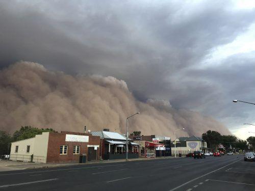 Über die Gemeinde Dubbo fegte eine riesige Staubwolke. ?AP