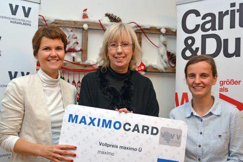 (v. l.) Isabelle Ganspöck (VVV) sowie Heidi Dolensky (Caritas) und Doris Müller (Haus Mutter & Kind). VVV