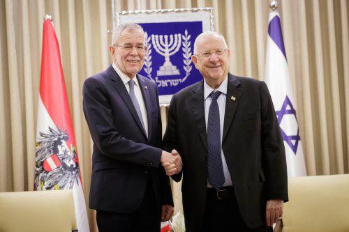 Van der Bellen traf seinen israelischen Amtskollegen. APA/BUNDESHEER/LECHNER