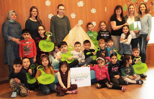 Vorarlberg bewegt: Kindergarten Mariahilf in Bregenz wurde für sein Engagement rund um eine gesunde Kinderbetreuung ausgezeichnet.