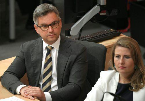 """""""Wir möchten auch die Beispiele der Vorarlberger Vorreiterrolle auf Bundesebene bringen"""", sagt Staatssekretär Magnus Brunner aus Höchst.APA"""