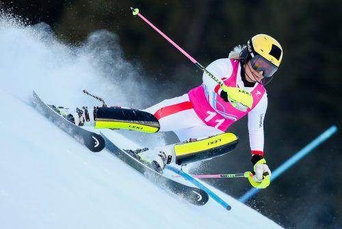 Amanda Salzgeber war die Nummer eins bei der FIS-Abfahrt in Sölden.GEPA