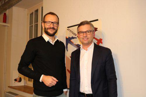 Andreas Gähwiler (V_labs) und Staatssekretär Magnus Brunner.