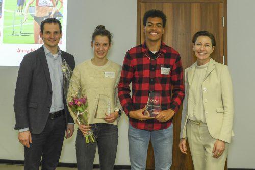 Anna Mager gewinnt den Titel zur Leichtathletik Nachwuchsathletin in der U18-Klasse. tsbv