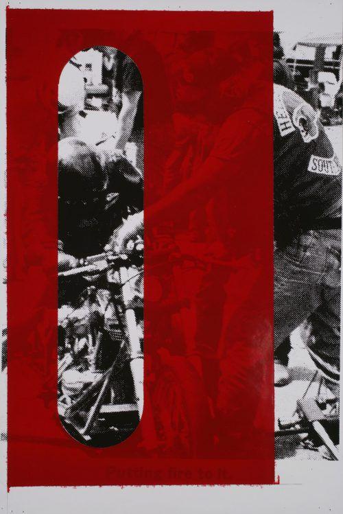 "Arbeit ""Putting fire to it"" von Steven Parrino. Museum/Kuzmanovic"