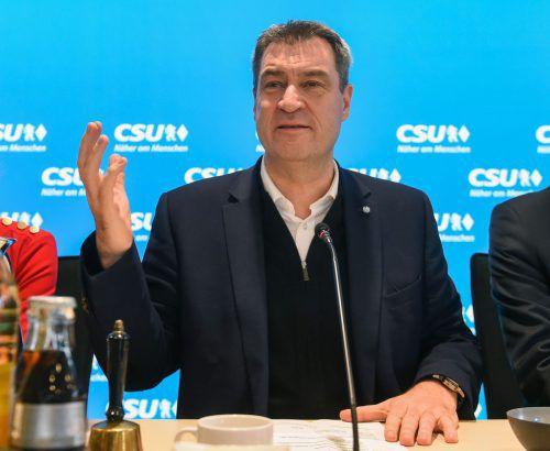 Bei der Festlegung der Kanzlerkandidatur brauche es Zeit, meint Söder. AFP